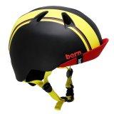 BERN NINO BLACK YELLOW RACING STRIPE XS-S